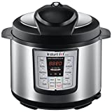 Instant Pot IP-LUX60 6-in-1 Programmable Pressure Cooker, 6.33 Qt, Latest 3rd Generation Technology, Stainless Steel Cooking Pot and Exterior, Black
