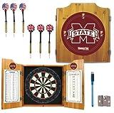 NCAA Mississippi State University Wood Dart Cabinet Set by Trademark Gameroom