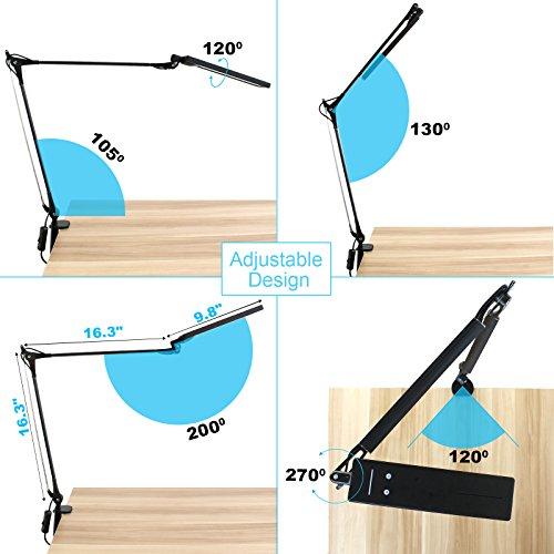 Byb E476 Metal Architect Led Desk Lamp Swing Arm Task