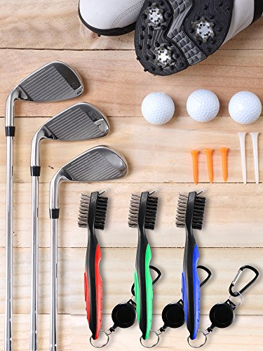 Jetec 3 Pieces Golf Double-sided Cleaning Brush Retractable Zipper Wire Groove Cleaning Tool by Jetec (Image #3)