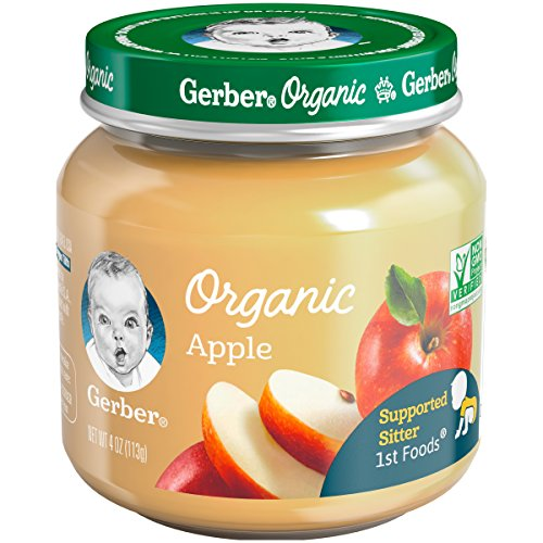 Stage Glass (Gerber Purees Organic 1st Foods Apple Baby Food Glass Jar, 4 oz)