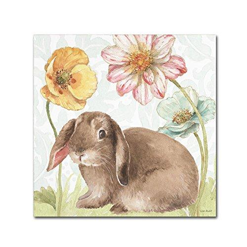Bunny Canvas Art - Trademark Fine Art Spring Softies Bunnies III by Lisa Audit, 14x14-Inch Canvas Wall Art