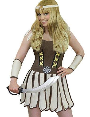 [Yummy Bee Womens Warrior Gladiator Roman Princess Costume Size 8 - 10] (Spartan Princess Costumes)