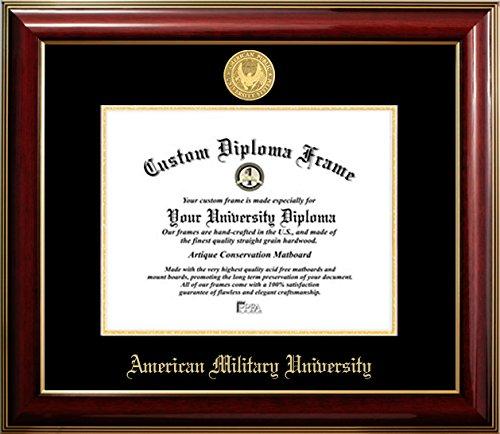 American Military University 22K Gold Medallion Diploma Frame (11 X14)