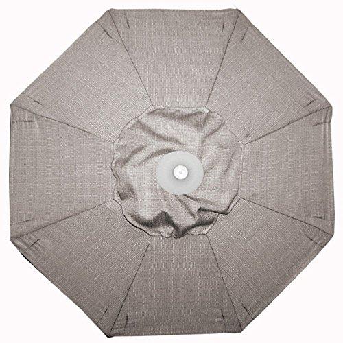 Galtech 9Ft Deluxe Auto-Tilt Umbrella w/Latte Frame & Sunbrella Fabric: Champagne Linen
