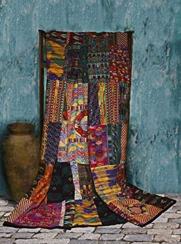 Amazoncom King Size Mixed Huipile Guatemalan Patchwork
