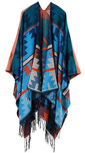 Stola Poncho Capa Chic Gr Invernali Vintage Donna Outerwear Ragazza Outwear Moda Unica Eleganti Autunno Taglia Baggy Cardigan Pattern Tassels SrYgS0xq