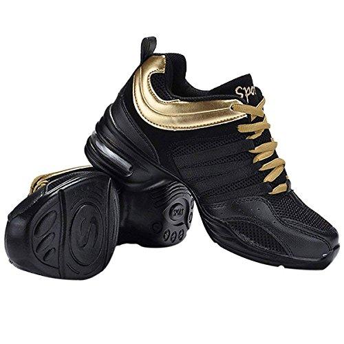 9d9dd004770 Zapatillas de Baile Deportivos Danza Jazz Elegante para Mujeres Suela  Blanda Moderna Zapatos de Movimiento Zapatos de la Aptitud CHNHIRA