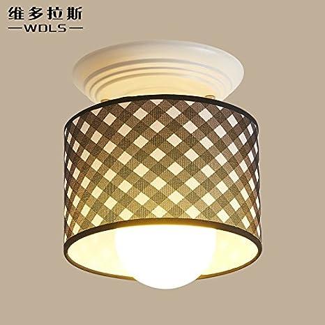 FLRLY Easy Fit moderno y luz de techo Retro sombra idílica ...