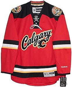Calgary Flames Alternate 2014-2015 Third Red Reebok Premier Hockey Jersey