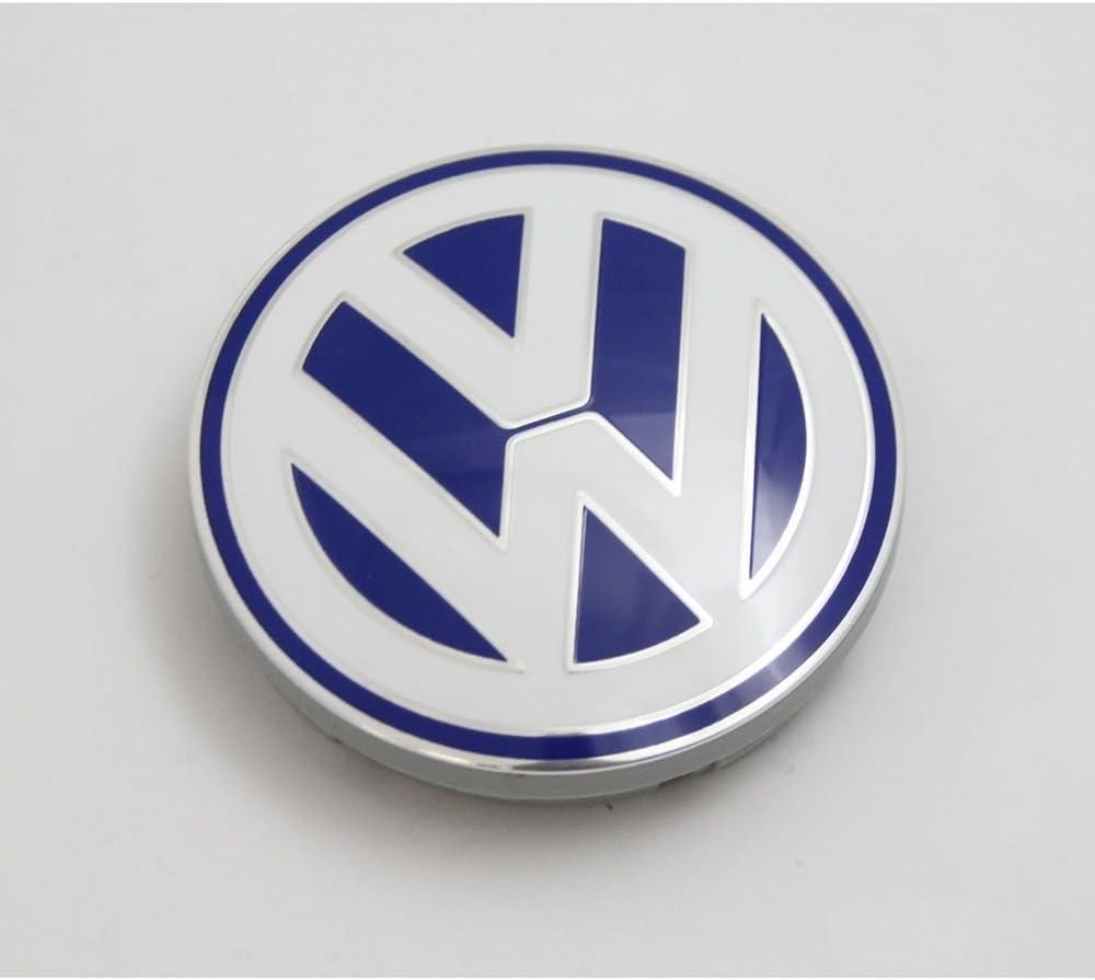 VW cubierta de cubo llanta de aleación Original cap azul / blanco ...