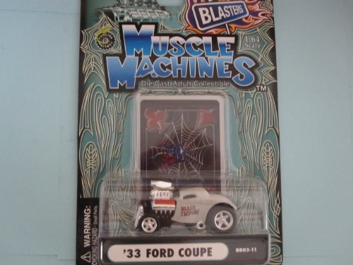 33 ford Coupe Gray/head Scoop Boulevard Blaster Edition By Muscle Machines