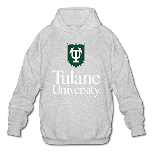 Men's Tulane University Long Sleeve Hooded Sweatshirt Small Ash ()