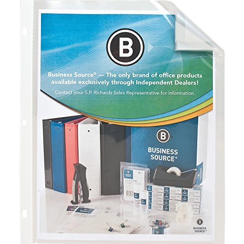 (Business Source 37515 Sheet Protector Top Loading 10 Pockets 9