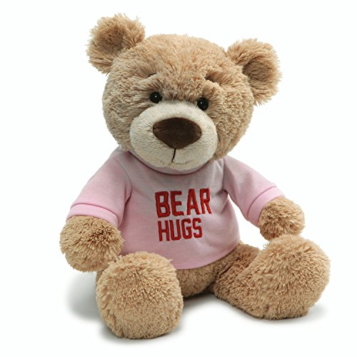 "(Gund Valentine's Day Hugs T-Shirt Message Bear Plush Stuffed Animal, 7.5"" , Pink)"