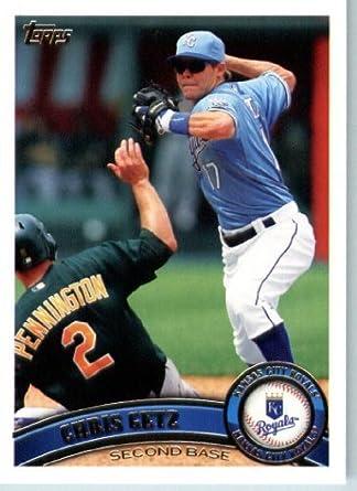 Chris Getz Kansas City Royals 2012 Topps Signed Card Baseball Cards Sports Mem, Cards & Fan Shop