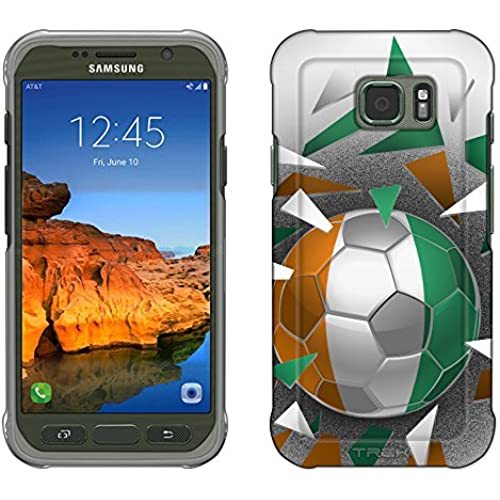 Samsung Galaxy S7 Active Case, Snap On Cover by Trek Soccer Ball Cote D'ivoire Slim Case Sales