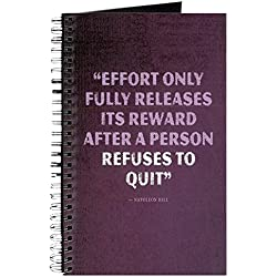 CafePress - Effort - Motivational Quote Journal - Spiral Bound Journal Notebook, Personal Diary, Lined