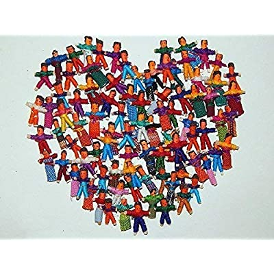 Heart People 100 Tiny Worry Dolls. 50 Boys and 50 Girls: Toys & Games