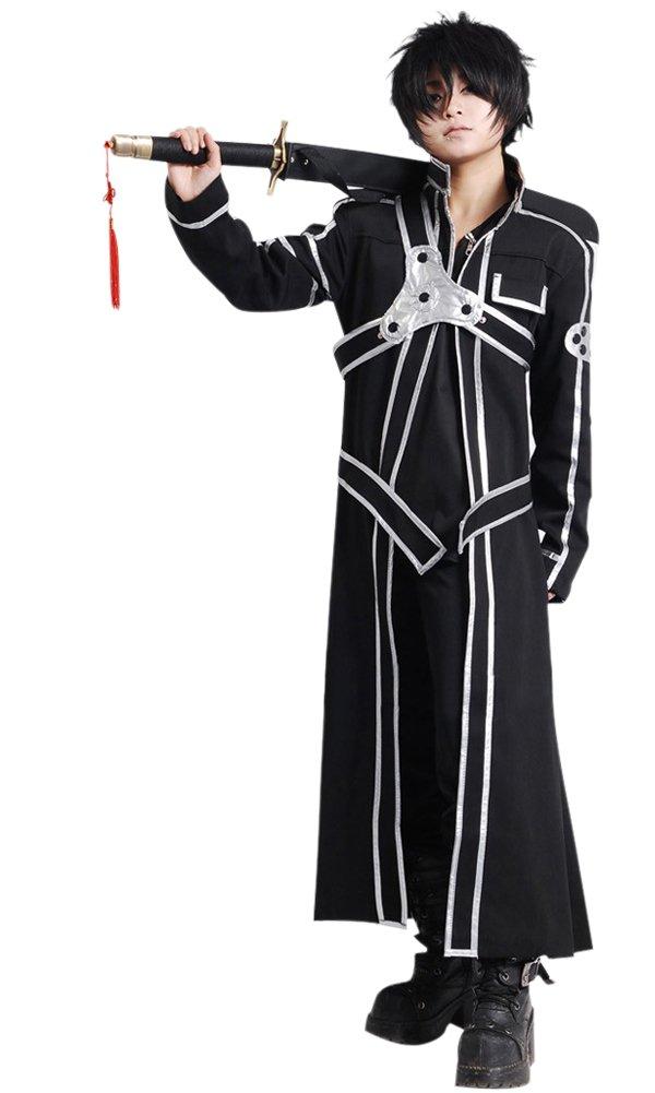 Cos2be SAO Anime Sword Art Online Kirito Cosplay Costume(SAO I,Men-S)