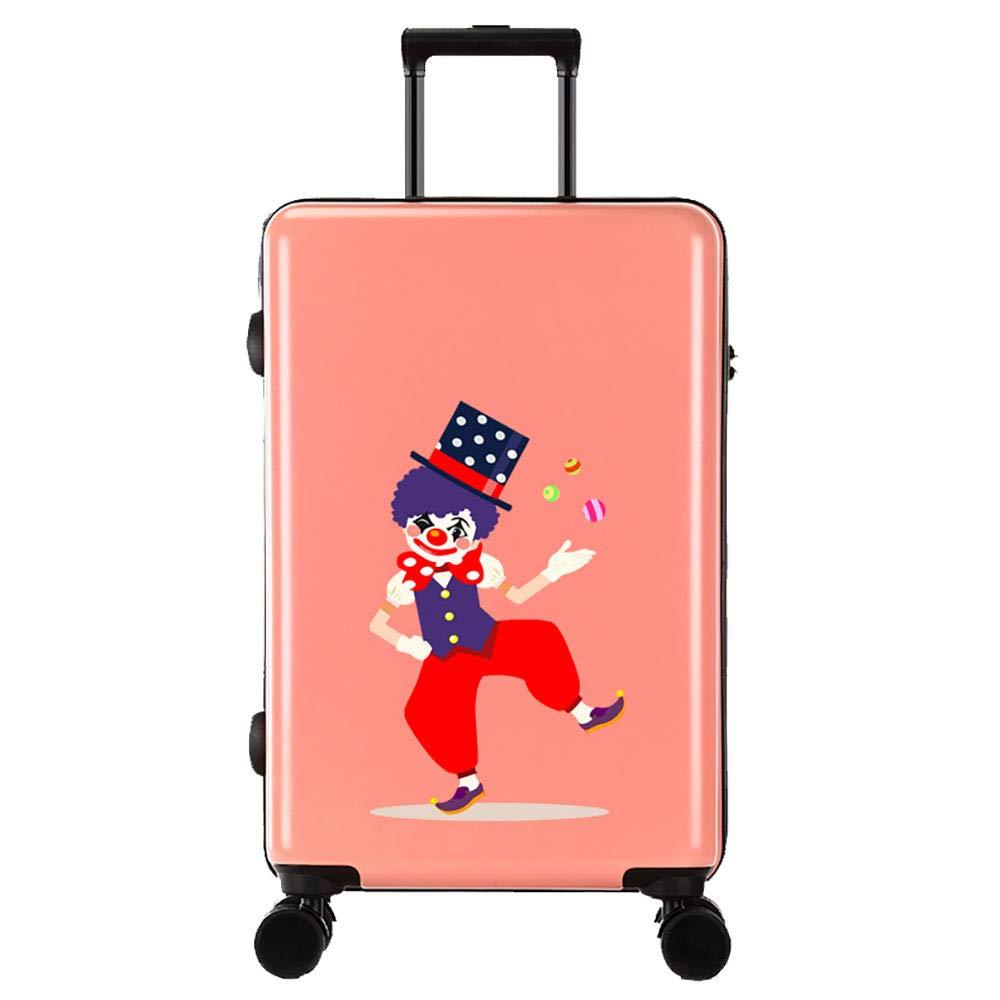 トロリーボックスPC大容量ポータブル出張ミュートキャスタースーツケース(ピンク)   B07MMYRK43