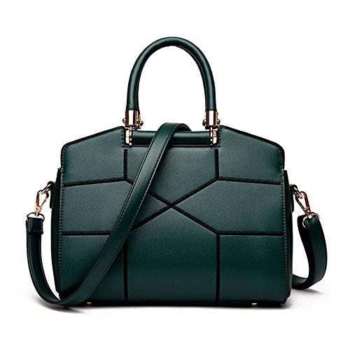 KYOKIM Bolso De Hombro De La Mujer Messenger Bag Stitching Fashion Green