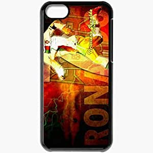 Personalized iPhone 5 5s Cell phone Case/Cover Skin CR7 Portugal 1 Portugal Football Federation Cristiano Ronaldo Real Madrid Football Black