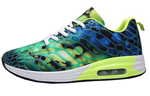 Avacostume Heren Dames Unisex Casual Paar Lichtgewicht Atletische Mode Sneakers Groen