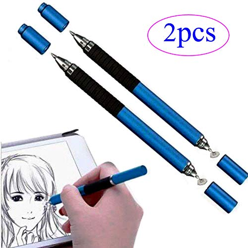 ZLMC High Precision Stylus Pen Fine Point Replaceable Disc Tip Compatible IPad Air Tab,IPhone, Samsung Galaxy Tablet, Dell Nextbook and Other Touch Screen Devices (Blue) ZLMC (Ipad Tips)