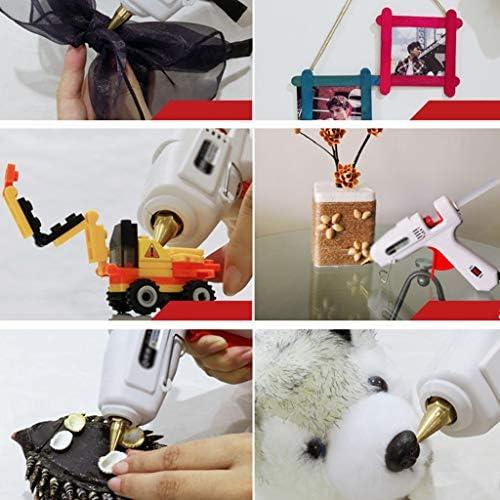 Xing zhe ホットメルト接着ガン、120Wホットグルーガン、子供と大人のDIYアートの作成に適した30本のスティックのり、銅グルー口へ、で、クリスマスの装飾 贈り物 (Color : A)