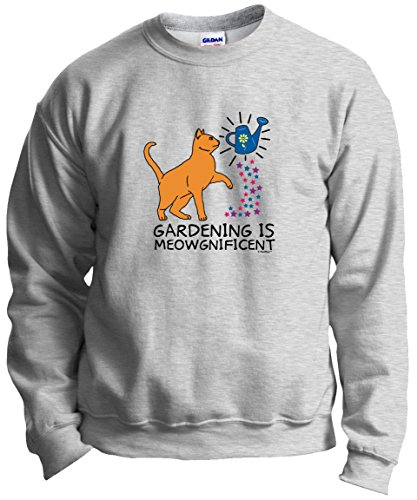 Gardening Meowgnificent Lover Crewneck Sweatshirt