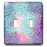 zebra print wall pics - 3dRose Anne Marie Baugh - Animal Print - Blue and Pink Liquid Look Zebra Pattern - Light Switch Covers - double toggle switch (lsp_264931_2)