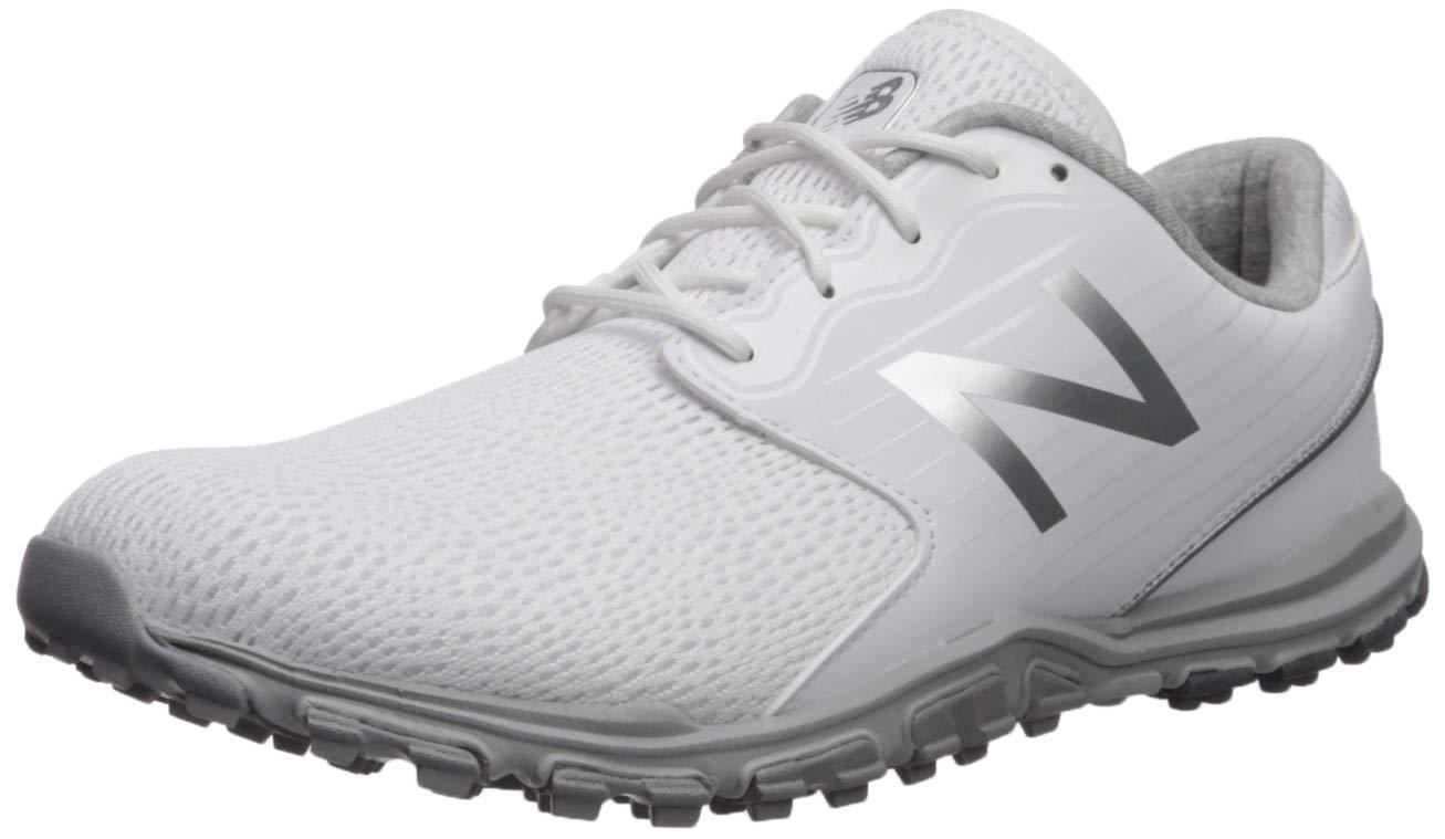 New Balance Women's Minimus SL Breathable Spikeless Comfort Golf Shoe, White, 8 M by New Balance