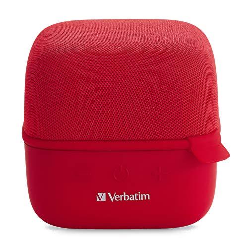 Verbatim 70225 Wireless Cube Bluetooth Speaker Red