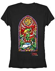 Legend of Zelda Wind Waker Window Junior's Black Shirt, Small
