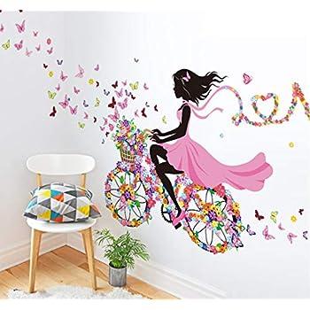 Ballet Wall Sticker Cartoon Multi Color Girl Dancing Elven Fairy for Sofa