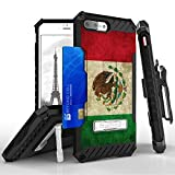 Apple iPhone 7 Plus Case - [Vintage M xico] Premium Tri-Shield [Impact Resistant] Rugged Armor Kickstand Belt Clip Holster Combo Cover and Atom LED