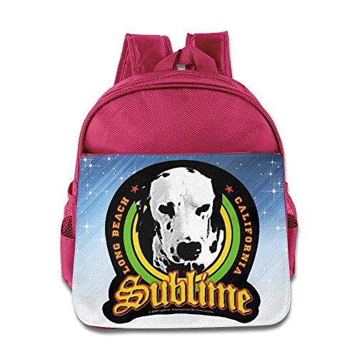 Dub Frame Dub Child (Sublime American Ska Punk Reggae Rock Band Kids School Pink Backpack Bag)
