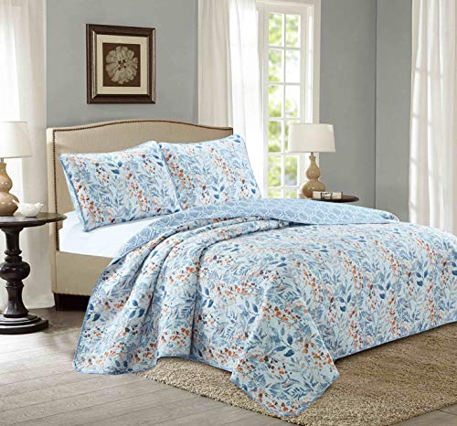 Sweet Home Collection 3 Piece Pinsonic Quilt ()
