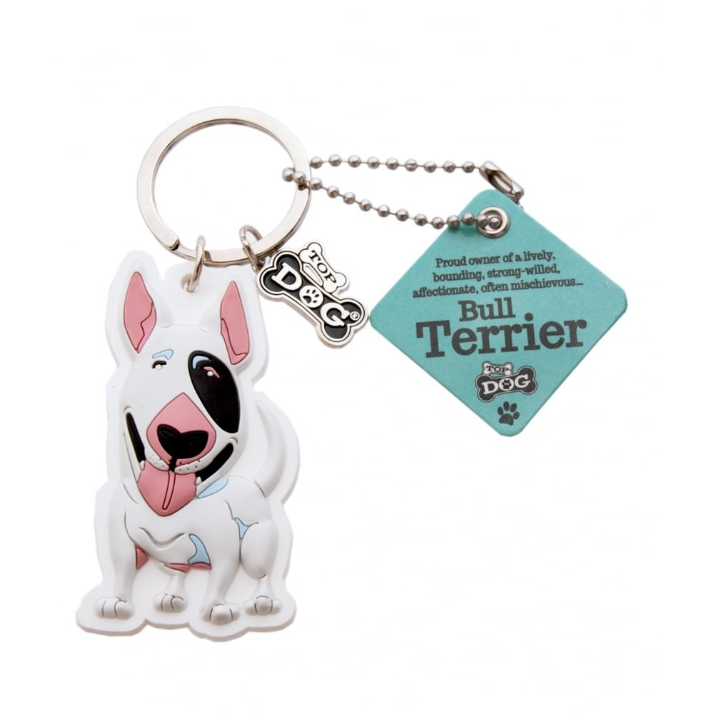 Amazon.com   Wags and Whiskers Bull Terrier Key Chain with Keyring Key  Holder (886767110486)   Office Products da9e36aa6a37