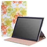 Microsoft Surface Pro 4 Case - MoKo Ultra Slim Lightweight Smart-shell Stand Cover Case for Microsoft Surface Pro 4 12.3 inch Tablet, Floral GREEN