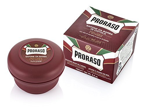 Proraso Shaving Soap in a Bowl, Moisturizing and Nourishing, 5.2 oz