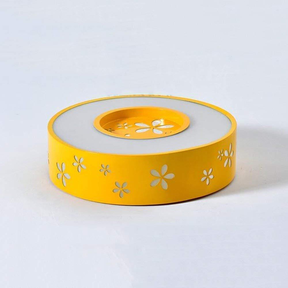 Haiyao シーリングライト、ホームリビングルームの寝室のシーリングライト、ベッドルームのシーリングランプのプロトコルで純木の北欧の幾何学的構造の創造的なシーリングライトのラウンジ (Color : Promise Dimming-yellow-40cm-24w) B07QRPSZ1T Promise Dimming-yellow-40cm-24w