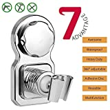 Wingogo Vacuum Suction Cup Shower Head Holder- Adjustable Shower Head Shower Head Bracket Shower Stand Mount Wall Holder Shower Clip Reusable With Adhesive Sucking Disc for Bathroom Accessories