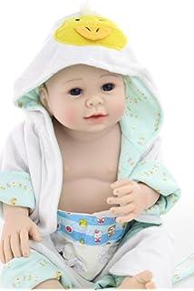 0801682f44d11 Nicery Reborn Baby Dura Del Silicone Reborn Bambola Reborn Bambino 20inch  50 Centimetri Magnetica Bella Realistica