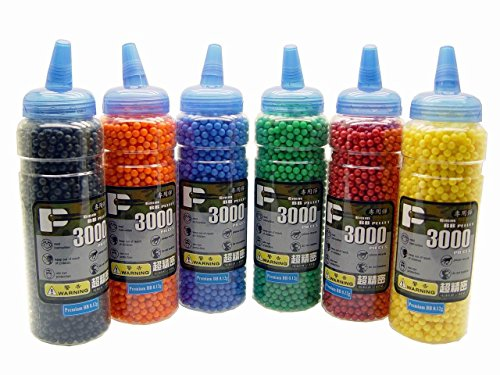 (BB 0.12g /3000 rds/Bottle (Yellow,Green,Blue,Orange,Black,Red))