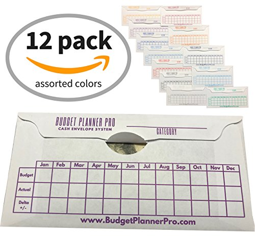 Cash Envelope System Budget Planner Wallet Organizer for Budgeting, Saving Money and Debt Relief, Durable with a Quick and Easy Open and Close Flap (12 Pack Assorted (Saving The System)