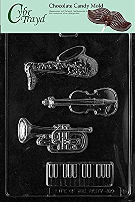 Cybrtrayd J089 Music Kit Chocolate Candy Mold with Exclusive Cybrtrayd Copyrighted Chocolate Molding Instructions