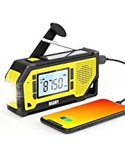 [2021 Newest] Raddy NW3 Emergency Weather Radio with NOAA Alert, AAA Battery Hand Crank Solar Powered with Flashlight, Phone Charger, AM/FM Radio, SOS Alarm, for Outdoor Camping Survival Prepper Kit