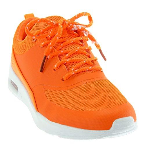 Tréssé Femme Cm Tennis Baskets Mode Chaussure Perforée Plat Talon 5  Angkorly Orange 3 XFwfqTxPP b8ff1c8397c